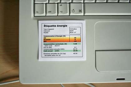 etiquette energie iBook